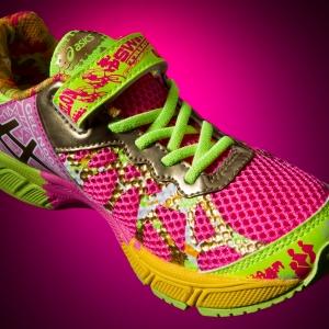 Asics Gel Noose, Hot Pink Ribbon Shoe